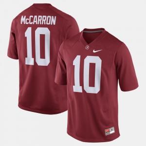 Men Bama #10 Alumni Football Game A.J. McCarron college Jersey - Crimson