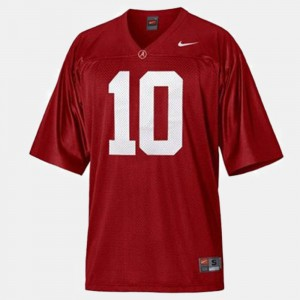 For Kids Football University of Alabama #10 A.J. McCarron college Jersey - Red