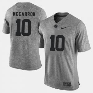 Men's #10 University of Alabama Gridiron Limited Gridiron Gray Limited A.J. McCarron college Jersey - Gray