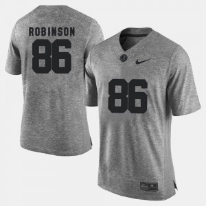 Men Gridiron Limited Alabama Crimson Tide #86 Gridiron Gray Limited A'Shawn Robinson college Jersey - Gray