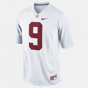 Men Alabama #9 Football Amari Cooper college Jersey - White