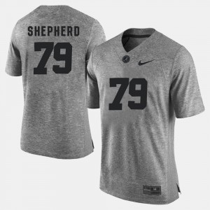 Men Alabama Crimson Tide Gridiron Gray Limited #79 Gridiron Limited Austin Shepherd college Jersey - Gray