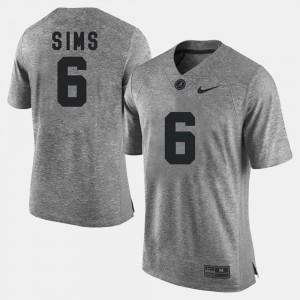 Men #6 Gridiron Limited Alabama Gridiron Gray Limited Blake Sims college Jersey - Gray