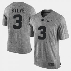 Men #3 Gridiron Gray Limited Gridiron Limited University of Alabama Bradley Sylve college Jersey - Gray
