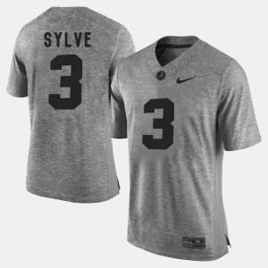 Men #3 Gridiron Gray Limited Gridiron Limited University of Alabama Bradley Sylve college Jersey - Gray