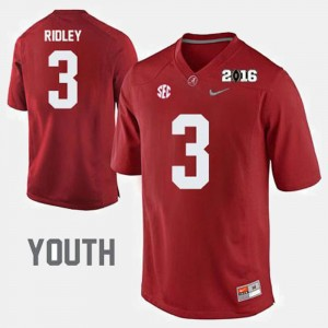 Youth(Kids) Alabama Roll Tide Football #3 Calvin Ridley college Jersey - Crimson