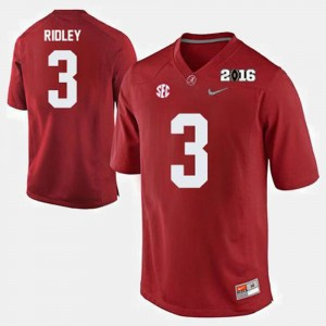 Men #3 Alabama Crimson Tide Football Calvin Ridley college Jersey - Crimson