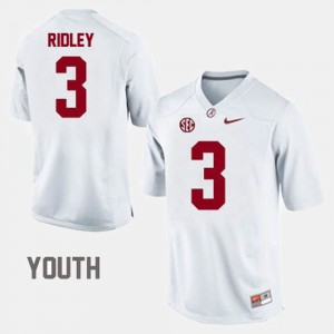 Kids #3 Football Bama Calvin Ridley college Jersey - White