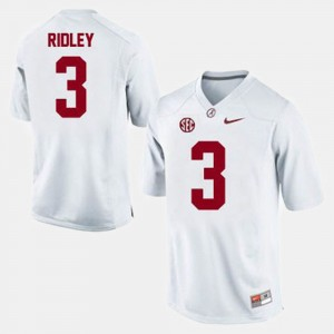Men Football Bama #3 Calvin Ridley college Jersey - White