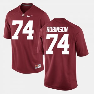 Men Alumni Football Game Roll Tide #74 Cam Robinson college Jersey - Crimson