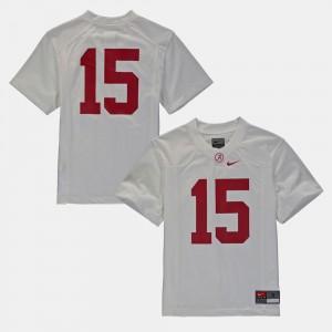 Kids University of Alabama Football #16 college Jersey - White