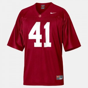 Men's Alabama Crimson Tide Football #41 Courtney Upshaw college Jersey - Red