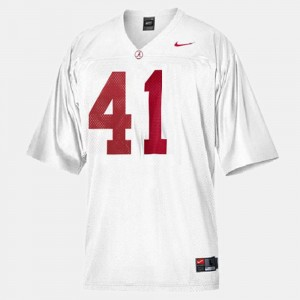 Men #41 Roll Tide Football Courtney Upshaw college Jersey - White