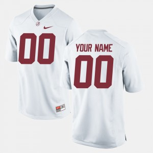 Men Roll Tide Football #00 college Customized Jersey - White