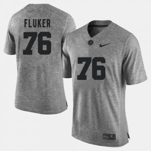 Mens Gridiron Limited #76 Bama Gridiron Gray Limited D.J. Fluker college Jersey - Gray