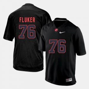 Men Roll Tide Silhouette #76 D.J. Fluker college Jersey - Black