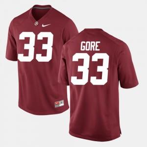 Mens #33 Alabama Alumni Football Game Derrick Gore college Jersey - Crimson