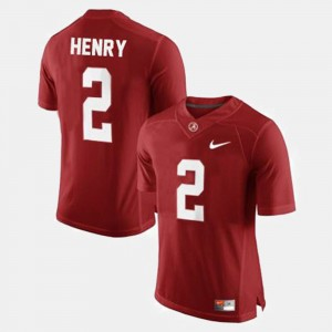 Youth(Kids) #2 Football Bama Derrick Henry college Jersey - Red