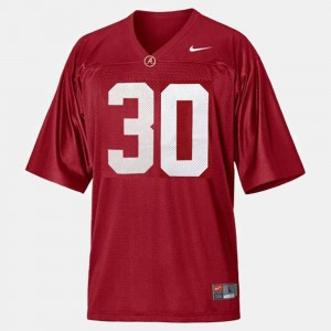 Youth(Kids) Alabama Football #30 Dont'a Hightower college Jersey - Red