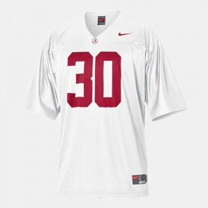For Kids Alabama Roll Tide #30 Football Dont'a Hightower college Jersey - White