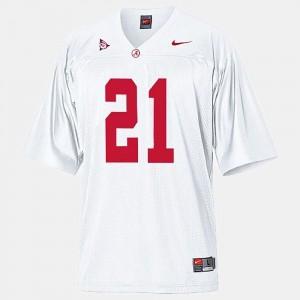 Youth(Kids) #21 Alabama Roll Tide Football Dre Kirkpatrick college Jersey - White