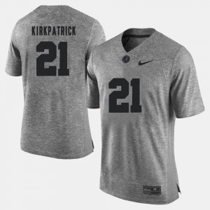 Men Gridiron Gray Limited Gridiron Limited Bama #21 Dre Kirkpatrick college Jersey - Gray
