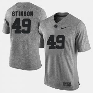 Men Bama #49 Gridiron Gray Limited Gridiron Limited Ed Stinson college Jersey - Gray
