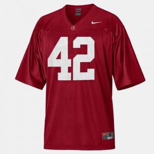 Men Alabama Crimson Tide Football #42 Eddie Lacy college Jersey - Red