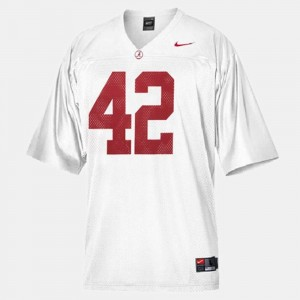Men's University of Alabama #42 Football Eddie Lacy college Jersey - White