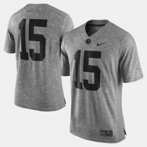 Men's #15 college Jersey - Gray Gridiron Gray Limited Gridiron Limited Bama