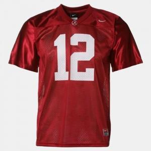 Youth(Kids) Football Alabama #12 Joe Namath college Jersey - Red