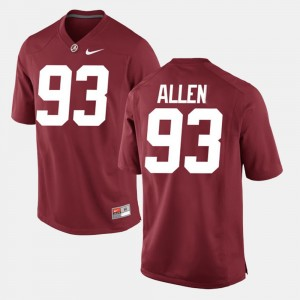 Men's #93 Bama Alumni Football Game Jonathan Allen college Jersey - Crimson