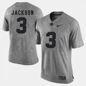 Men #3 Gridiron Gray Limited Gridiron Limited Roll Tide Kareem Jackson college Jersey - Gray