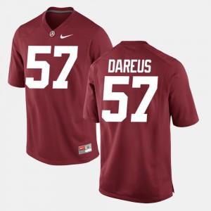 Men's Alumni Football Game #57 University of Alabama Marcell Dareus college Jersey - Crimson