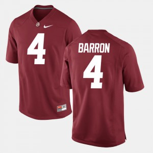 Men Alabama #4 Alumni Football Game Mark Barron college Jersey - Crimson