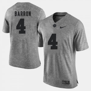 Men's #4 Gridiron Limited Gridiron Gray Limited Alabama Roll Tide Mark Barron college Jersey - Gray