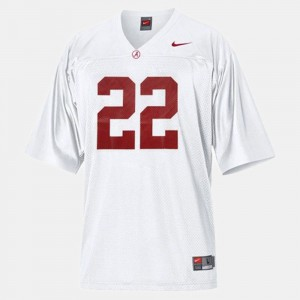 Youth(Kids) #22 Football University of Alabama Mark Ingram college Jersey - White