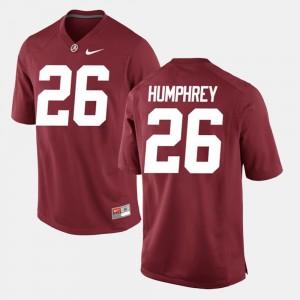 Men Alabama Crimson Tide Alumni Football Game #26 Marlon Humphrey college Jersey - Crimson