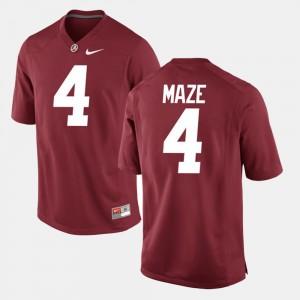 Mens #4 Marquis Maze college Jersey - Crimson Alumni Football Game University of Alabama