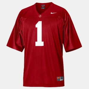 Youth(Kids) Bama #1 Football Nick Saban college Jersey - Red