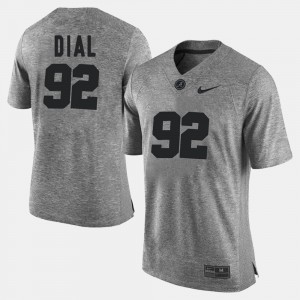Men's Bama #92 Gridiron Limited Gridiron Gray Limited Quinton Dial college Jersey - Gray