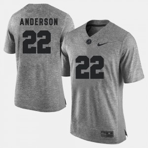 Men's #22 Gridiron Gray Limited Gridiron Limited Alabama Ryan Anderson college Jersey - Gray
