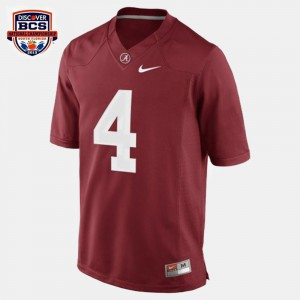 Men Football #4 Alabama T.J. Yeldon college Jersey - Red