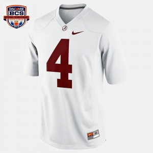 Youth(Kids) Bama #4 Football T.J. Yeldon college Jersey - White