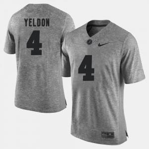 Mens Gridiron Gray Limited Bama #4 Gridiron Limited T.J. Yeldon college Jersey - Gray