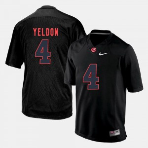 Men's #4 T.J. Yeldon college Jersey - Black Silhouette Alabama Crimson Tide