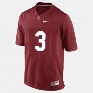 Men's #3 Football Bama Trent Richardson college Jersey - Red