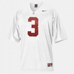 Men's Football #3 University of Alabama Trent Richardson college Jersey - White