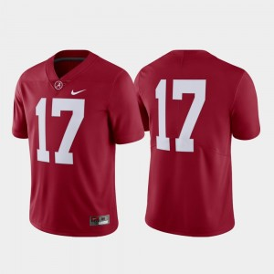 Mens Football #17 Limited Roll Tide college Jersey - Crimson