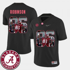 Men's #86 Football Pictorial Fashion Bama A'Shawn Robinson college Jersey - Black